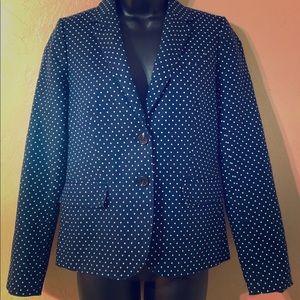 J Crew factory polka dot schoolboy linen blazer